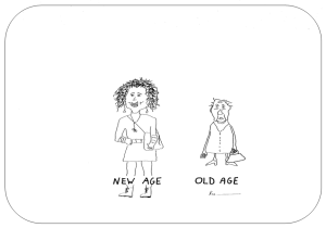 Cartoon New Age vs Old Age