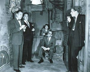 Fred Allen, left, and cast.